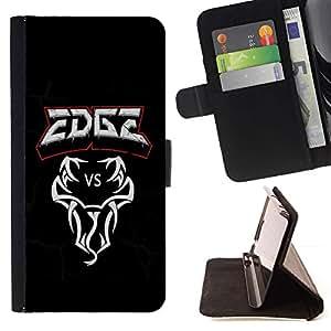 For Sony Xperia Z3 Compact / Z3 Mini (Not Z3) Case , Edge vs Serpiente- la tarjeta de Crédito Slots PU Funda de cuero Monedero caso cubierta de piel