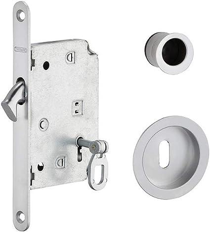 Thirard - BLOQUEO DE GANCHO con llave para puerta corredera, cromo satinado: Amazon.es: Bricolaje y herramientas