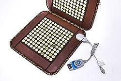 Infrared Heat Therapy Healing Natural Jade Chair Mat/Pad JadeSeatBack-U
