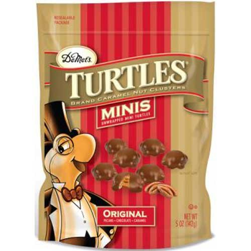 Turtles Original Minis Nut Clusters Candy, 5 Ounce -- 8 per case.