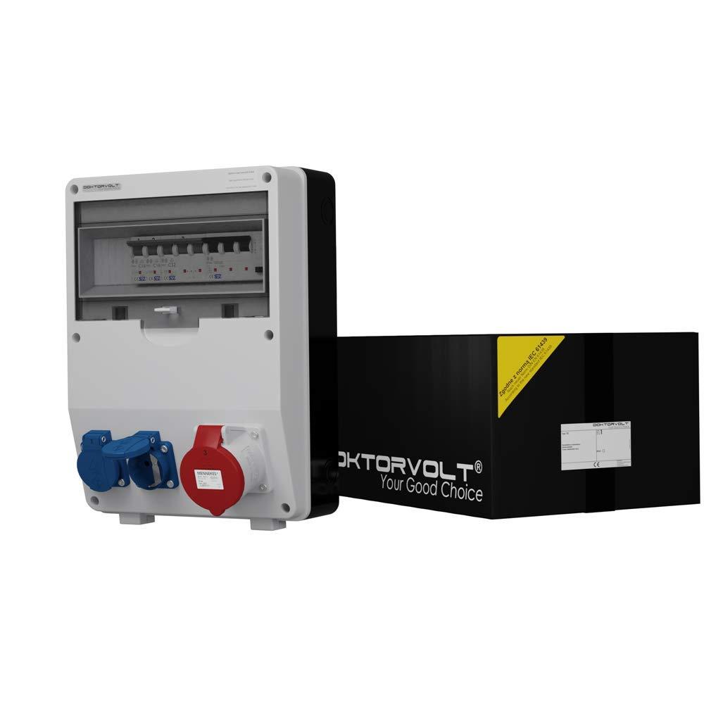 Stromverteiler TD-S//FI 1x32A 2x230V Wandverteiler Baustromverteiler 6725