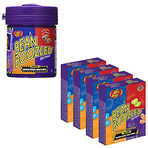 Jelly Belly Bean Boozled Set - Dispenser and 4 Refills -