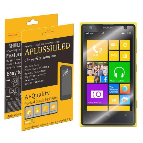 Aplusshield 2014 Premium Ultra Clear Screen Protector Guard for Nokia Lumia 520 [6 pack] No Bubble+Lifetime Warranty+Retail Package