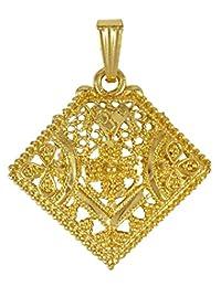 Banithani 18K Goldplated Ethnic Necklace harm Chain Pendant Jewelry