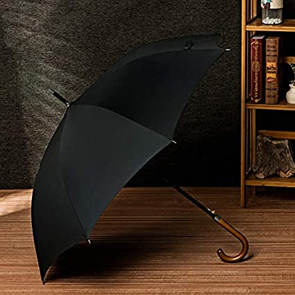Vivona Long Curved Handle Umbrella 8K Windproof Wooden Handle Large Men Umbrellas Rain Stick Classic Business