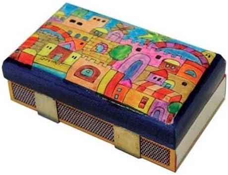 Yair Emanuel Pintada a Mano de Madera Caja para cerillas/Torre de David diseño: Amazon.es: Hogar