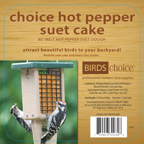 Birds Choice Hot Pepper Suet Cake 11.75 oz., Case of 12 ()