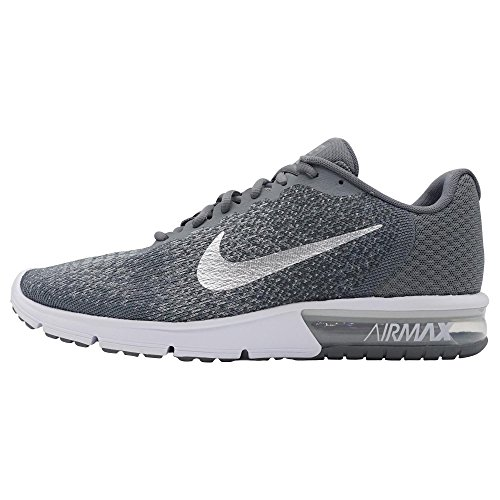 Nike Air Max Sequent 2 Men's Running Shoes Cool Grey/Metallic Silver
