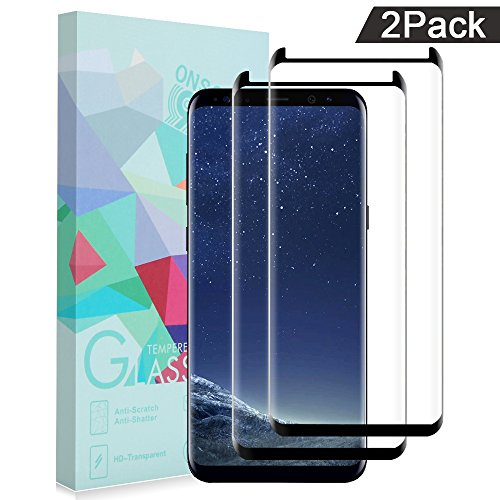 ONSON Glass Protector,Samsung Galaxy S8 Screen Protector, [Tempered Glass], Bubble Free (2 PACK)-WJDM03