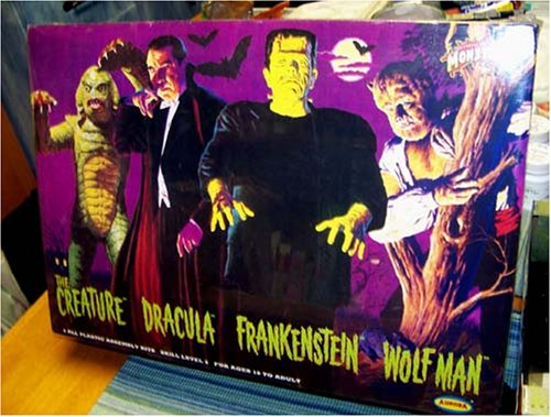 Aurora Universal Monsters Frightening 4 Pack Limited Edit...