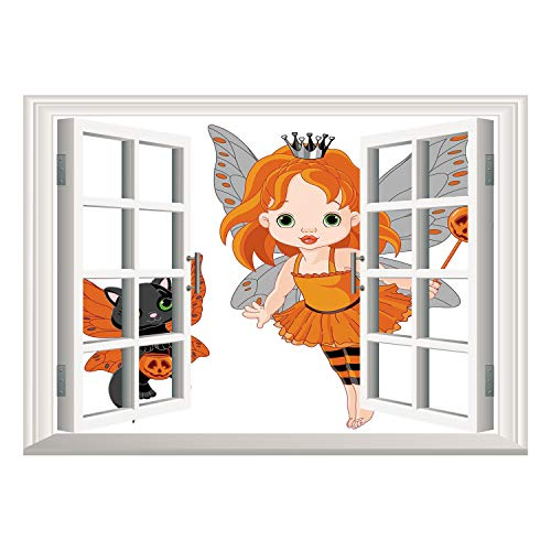 SCOCICI Removable Wall Sticker/Wall Mural/Halloween,Halloween Baby Fairy and