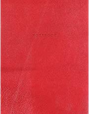 Notebook: Vintage Red Leather Style - Gold Lettering - Softcover | 150 College-ruled Pages | 8.5 x 11 size