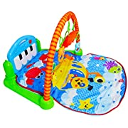PLS Baby Kick and Play Piano Playmat, (Small, Colorful) Baby Toys, Battery Included, For 6 to 12 Months Old, Interactive, Activity Toys, Lights and Sounds