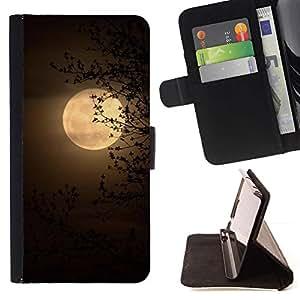 Momo Phone Case / Flip Funda de Cuero Case Cover - Amarillo Sabana África Noche - Samsung Galaxy S3 III I9300
