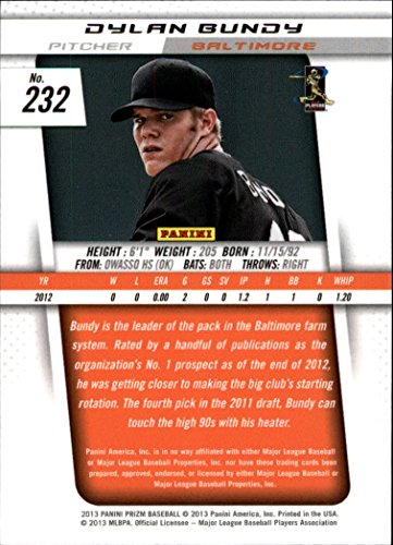 2013 Panini Prizm Baseball #232 Dylan Bundy RC Baltimore Orioles at Amazons Sports Collectibles Store
