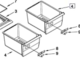 Whirlpool W2256704 Refrigerator Crisper Drawer