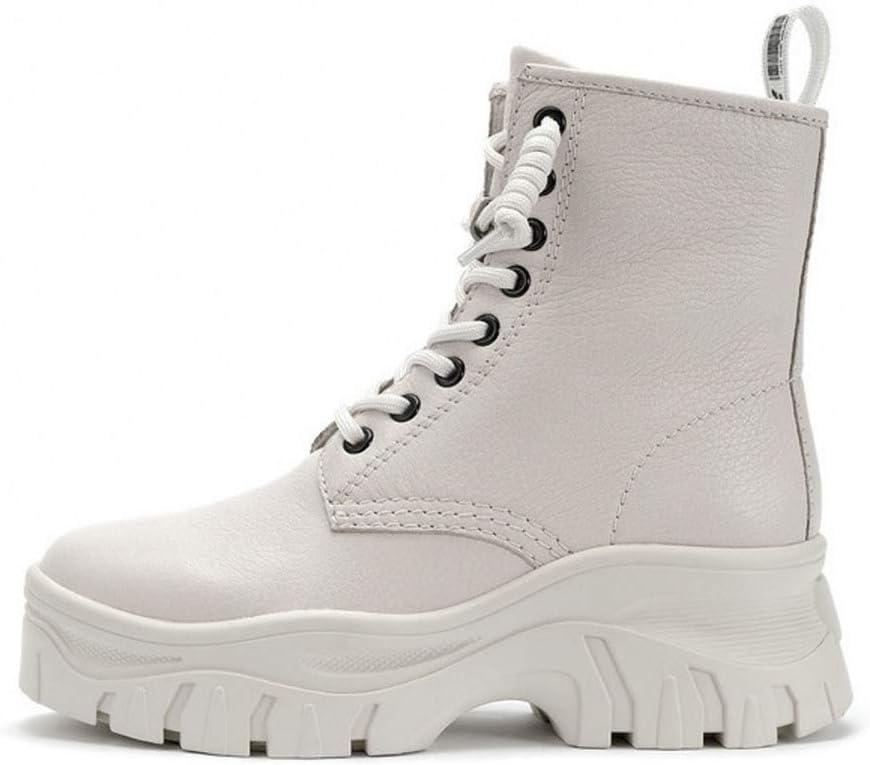 Botas Blancas De Invierno Botas De Moto Zapatos Punk De Plataforma Martin Boots Women,White-37 White u55JAqNr