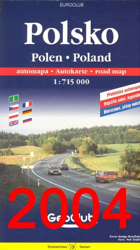 Poland Road Map with Separate Index 1:750,000