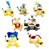 FiraDesign Set of 7 Mario Koopalings Larry Iggy Lemmy Roy Ludwig Wendy Morton Plush Toy