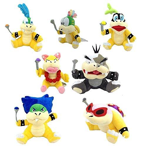 FiraDesign Set of 7 Mario Koopalings Larry Iggy Lemmy Roy Ludwig Wendy Morton Plush Toy