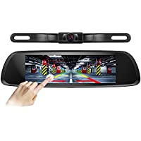 Pruveeo D700-Pro 8-Inch Touch Screen Backup Camera Dash Cam Front and Rear Dual Channel for Cars with Rear View Reversing and Monitor Kit