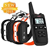 HISEASUN 2019 New Dog Training Collar Long Range 1500 Ft IPX7 Waterproof and Rechargeable Remote Reflective Collar with Beep,Vibration,Shock for Small,Medium,Large Dogs