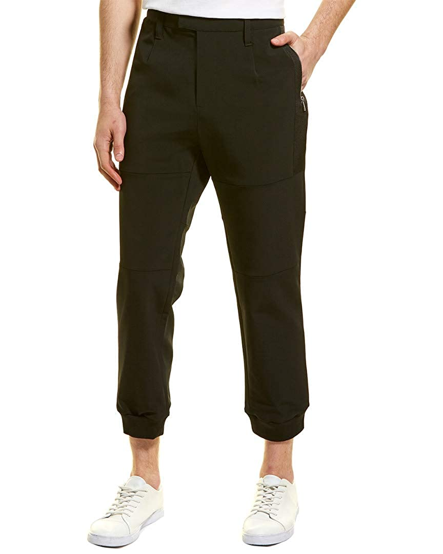M Black Karl Lagerfeld Mens Dress Jogger Pant