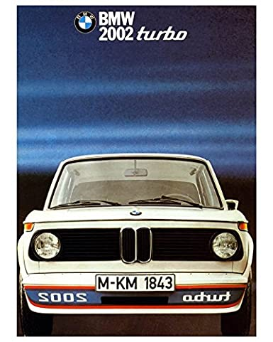1973 1974 1975 BMW 2002 Turbo Automobile Photo Poster