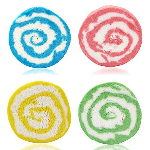 ❤ Lush Bubble Bar Gift Set with Super Rich Foam, Colorful Reusable Handmade Kid/Women Bath Bomb, Natural Solid Bubble Bath Soap with Essential Oil, Perfect Valentine Gift, Portable Travel,Pack of 4
