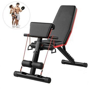 Fnova Banco de Pesas Ajustable para Fitness, inclinación Plegable ...