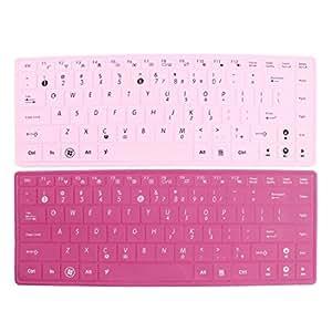 """2pcs rosado fucsia de silicona de película piel del teclado para Asus 14 """"Notebook PC"""