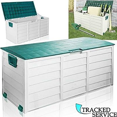 World Quality - Caja de plástico grande de almacenaje para jardín, caja de jardín para accesorios (250 l): Amazon.es: Jardín
