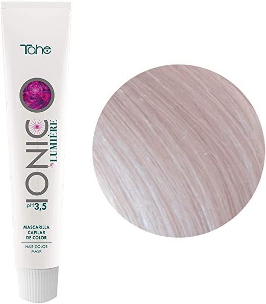 Tahe Ionic Lumière Mascarilla Capilar/Mascarilla de Color de PH de 3,5 Ácido, sin Parebenos. Altamente Nutriente e Hidratante, Transparente, 100 ml