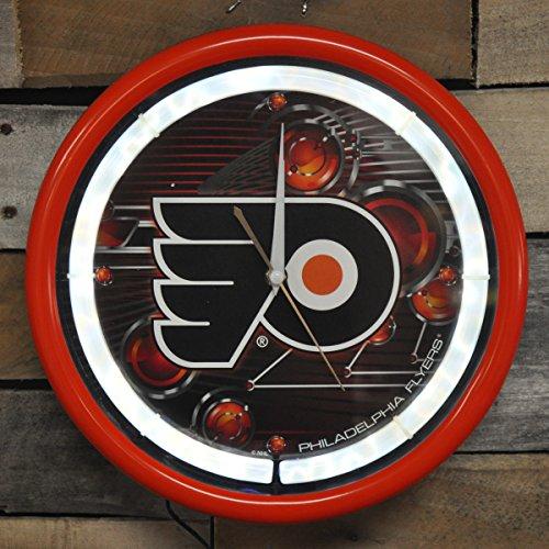 Authentic Street Signs NHL Hockey Sports Team Plasma Clock (Philadelphia Flyers)
