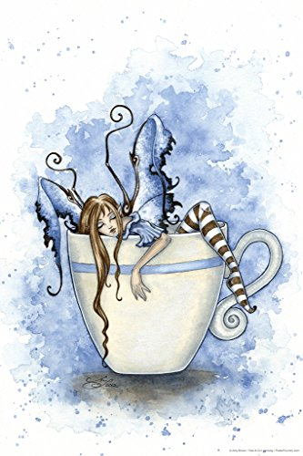 I Need Coffee by Amy Brown Art Print Poster 12x18 inch