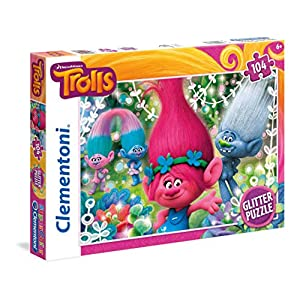Clementoni Trolls Glitter Puzzle 104 Pezzi 27249