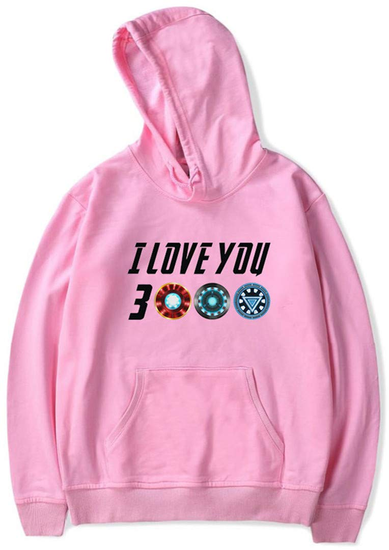 Silver Basic Boys Fan Support Dad I Love You 3000 Avengers Sweatshirt Pullover Hoodie