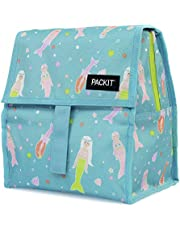 PackIt Freezable Lunch Bag with Zip Closure, Mermaids