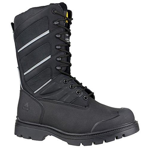 Amblers - Calzado de protección de piel para hombre negro negro 4 yYD8lb