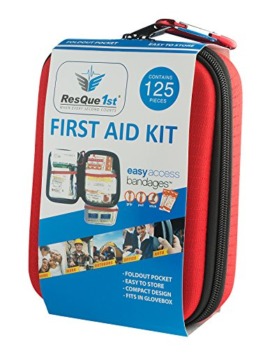 SUPER SALE - ResQue1st Hard Shell Complete First Aid Kit 125-Piece