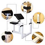 Sportmad-Preacher-Curl-Bench-Weight-Bench-Press-Rack-Adjustable-Seated-Dumbbell-Bench-Roman-Chair-Hyperextension-Bench-Barbell-Rack-for-Home-Gym-Exercise-Fitness-Workout-Arm-Training-440-lbs-Capacity