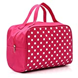 Cosmetic Bags , Transer Women Cosmetic Boxes for girls Cosmetics Cases Girls Makeup Tools Storage Handbags Ladies Cosmetic Holders Toiletries Containers Cosmetic Clutch Hand Bags (Hot Pink)