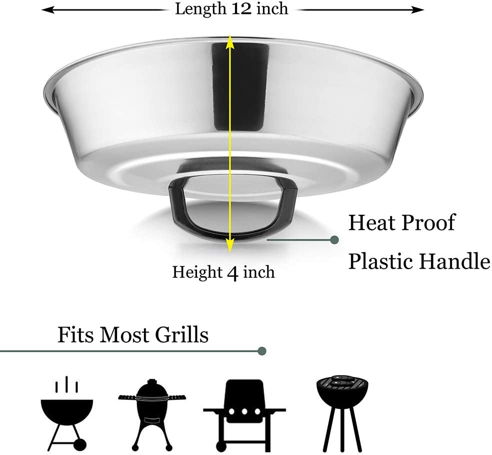HaSteeL Cheese Melting Dome Set of 2 Stainless Steel Griddle Accessories for Flat Top Grill//Outdoor BBQ//Kitchen Cooking 12 Inch Round Basting Cover Metal Steam Cover