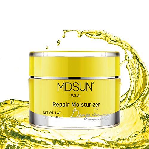 MDSUN Repair Moisturizer, Face Moisturizer with DNA, E. Coli, Vitamin C & B6, ALA, Thioctic Acid, for Reduce Signs of Aging, Repair Skin Cells, Brighten Skin, Antioxidant, Against Free Radicals 50mL Review