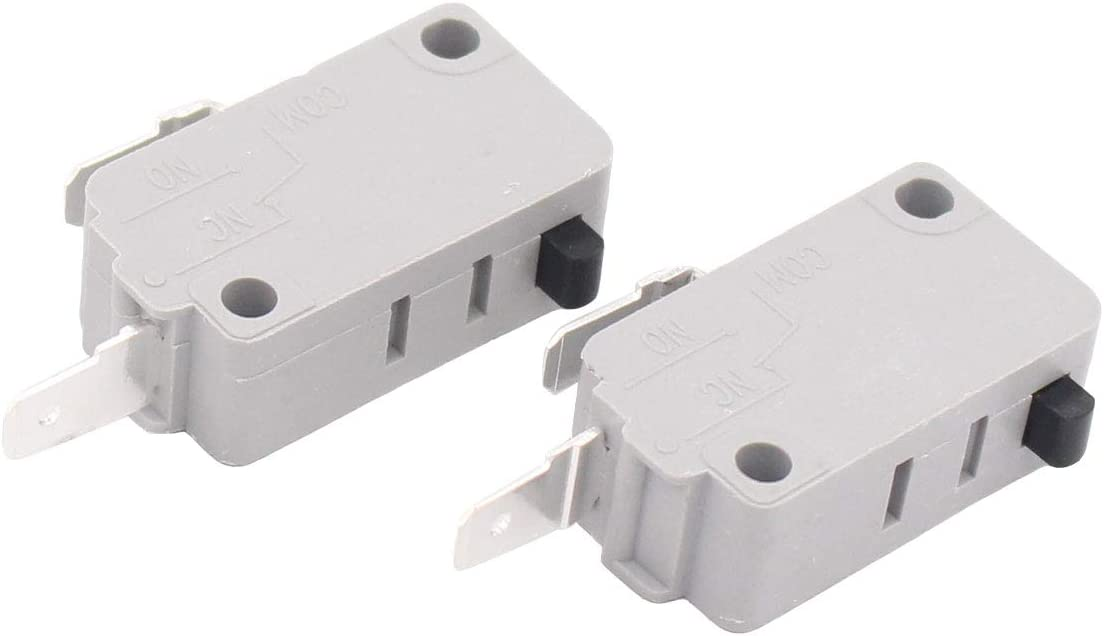 ApplianPar 2 Pack KW3A Microwave Oven Door Switch for Washer Rice Cooker Microwave DR52 125/250V 16A Normally Open and Normally Close