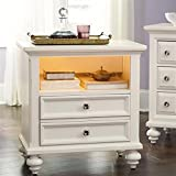 American Drew Drawer Nightstand in Dover White 605609 Review