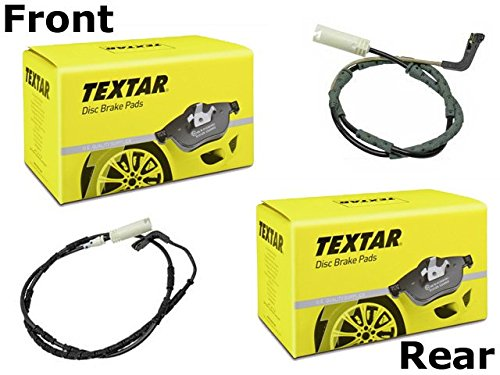 BMW e90 335 Xi Brake Pad KIT Front+Rear TEXTAR Pads+Sensors+Clips