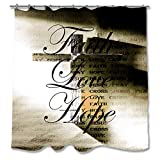 Pixsona Faith Love Hope Cross Shower Curtain (71''x74'')