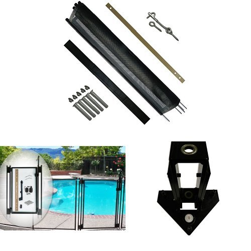 Pool Fence DIY by Life Saver Pool Fence, 72-Foot Black Ba...