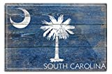 Lantern Press Rustic South Carolina State Flag (12×18 Aluminum Wall Sign, Wall Decor Ready to Hang)